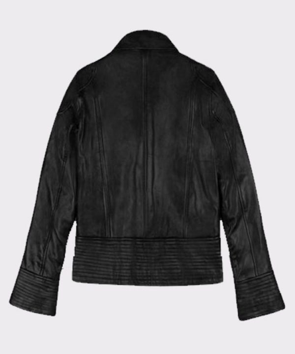Megan Fox Celebrity Transformers 2 Leather Fashion Jacket Back