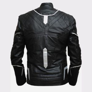 Men Stylish Black Panther High Quality Leather Jacket 1