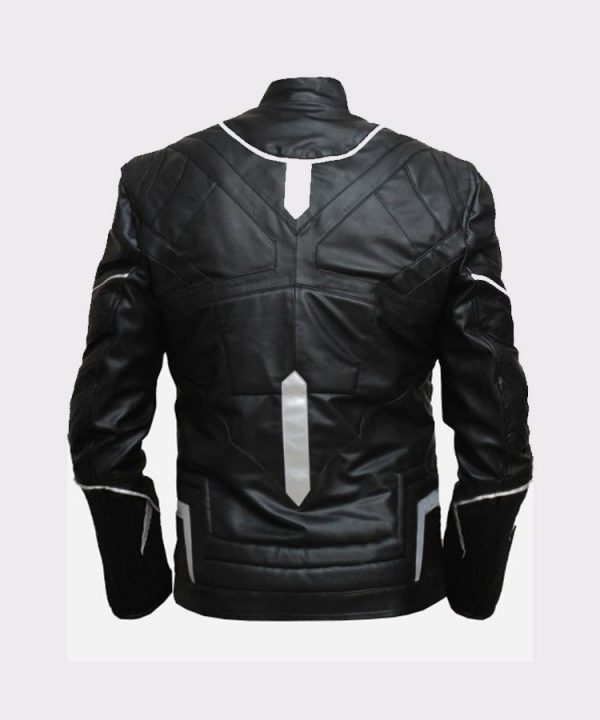 Men Stylish Black Panther High Quality Leather Jacket 1