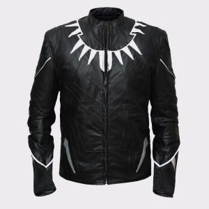 Men Stylish Black Panther High Quality Leather Jacket
