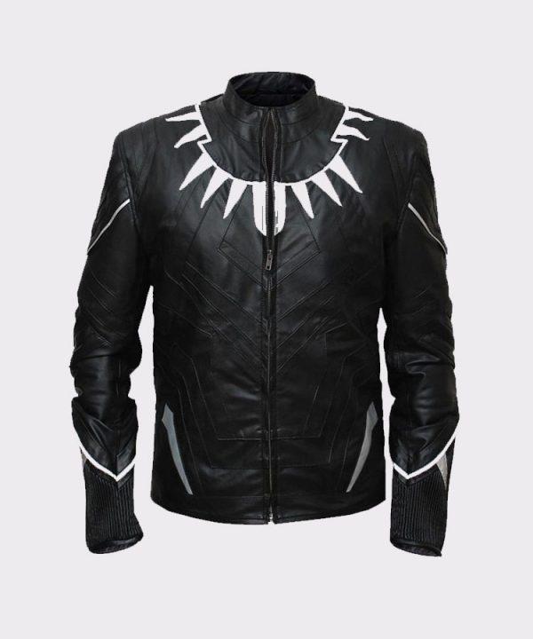 Men Stylish Black Panther High Quality Leather Jacket
