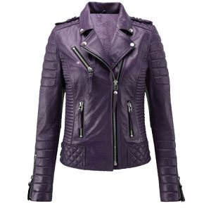 NEW 100% GENUINE WOMEN'S SOFT LAMBSKIN LEATHER BOMBER BIKER JACKET