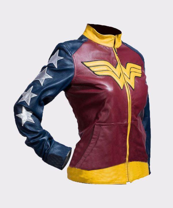 Princess Diana of Themyscira Wonder Woman Faux Leather Jacket 1