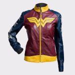 Princess Diana of Themyscira Wonder Woman Faux Leather Jacket