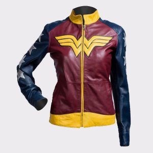 Princess Diana of Themyscira Wonder Woman Faux Leather Jacket
