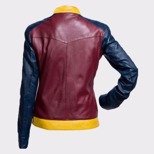 Princess Diana of Themyscira Wonder Woman Faux Leather Jacket Back