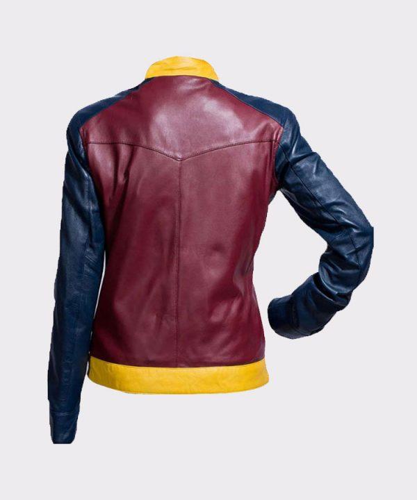 Princess Diana of Themyscira Wonder Woman Faux Leather Jacket Back