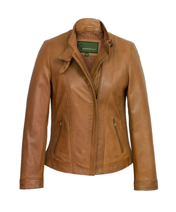 Women's Tan Leather Jacket