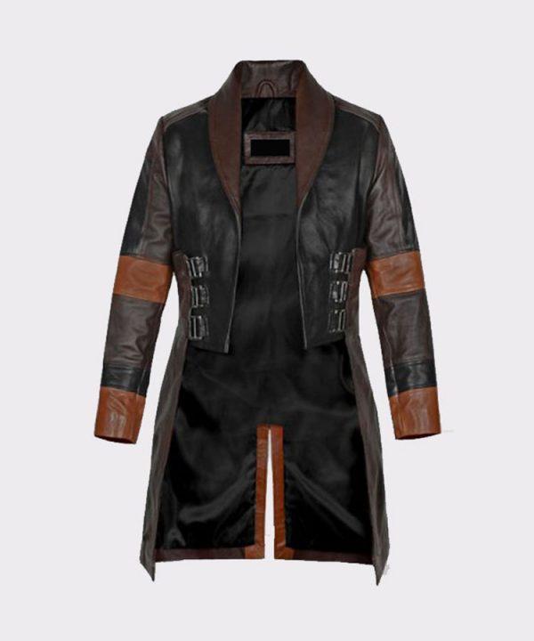 Women Guardians of the Galaxy Vol 2 Zoe Saldana Leather Coat