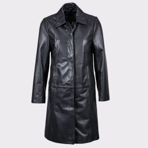 Women Stylish Belle Elegant Leather Coat
