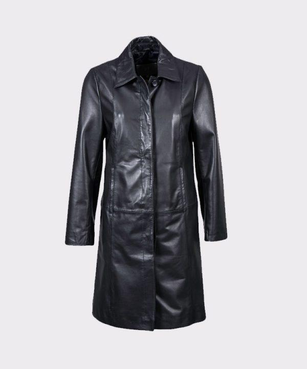 Women Stylish Belle Elegant Leather Coat