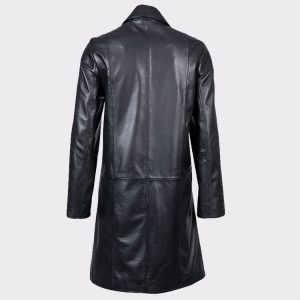 Women Stylish Belle Elegant Leather Coat1