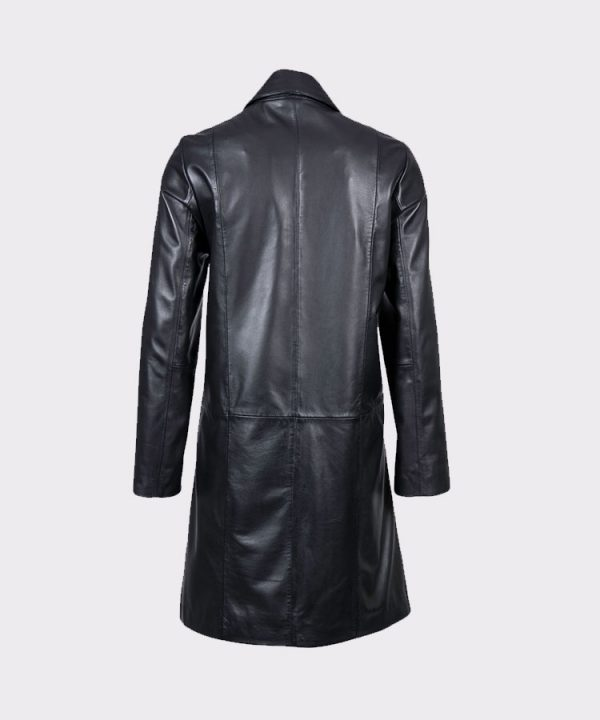 Women Stylish Belle Elegant Leather Coat1
