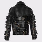 Women Stylish Zendaya Coleman Biker Leather Black Jacket 1