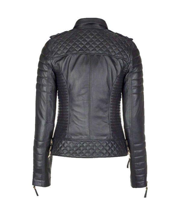 Women's Genuine Lambskin Leather Slim fit Ladies Motorcycle Biker Jacket 3