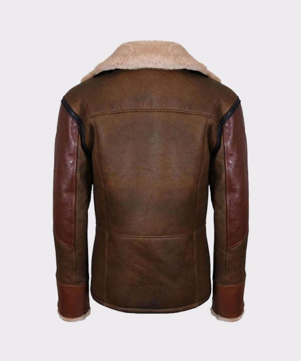 12Mens Aviator Raf B3 Leather Bomber Flying Jacket 3