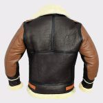 Men B3 Bomber Jacket Aviator Real Shearling Two Tone Bomber Sheepskin Leather Jacket 2