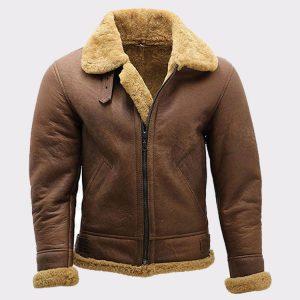 B3 Bomber Aviator Shearling Leather Jacket