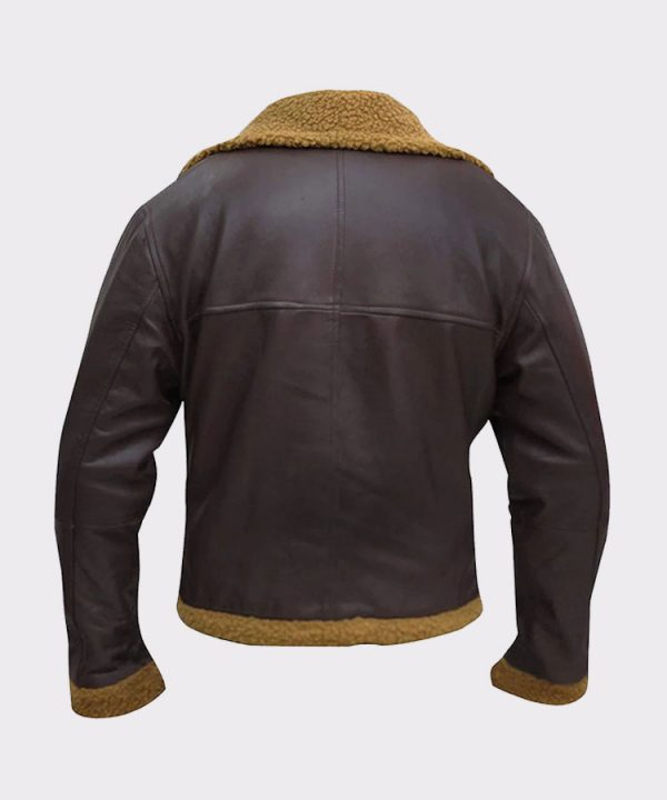 B3 Men Flying Aviator Winter Shearling Fur Pilot Sheepskin Bomber Leather Jacket 44
