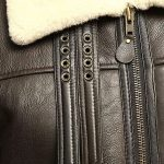 Men B3 Bomber Aviator Shearling Sheepskin Leather Winter Coat Jacket 1