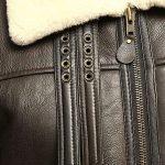 Men B3 Bomber Aviator Shearling Sheepskin Leather Winter Coat Jacket 1