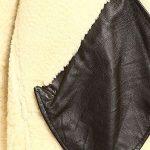Men B3 Bomber Aviator Shearling Sheepskin Leather Winter Coat Jacket
