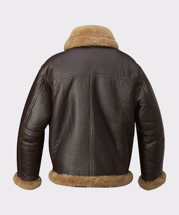 Mens Aviator Raf B3 Top Quality Leather Bomber Flying Jacket 1